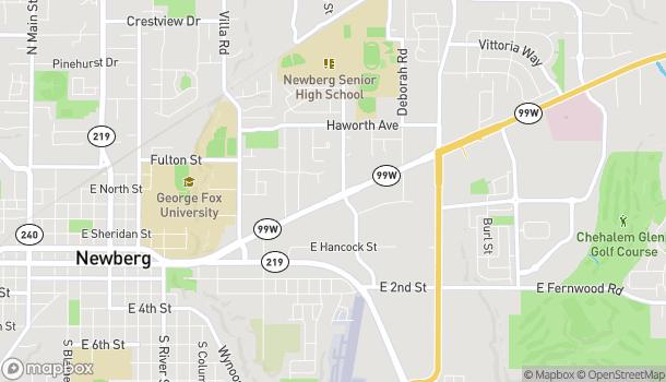 Mapa de 2401 E Portland Rd en Newberg