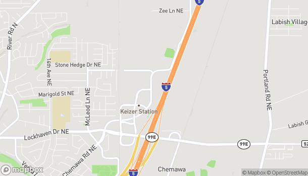 Mapa de 6328 Keizer Station Blvd NE en Keizer