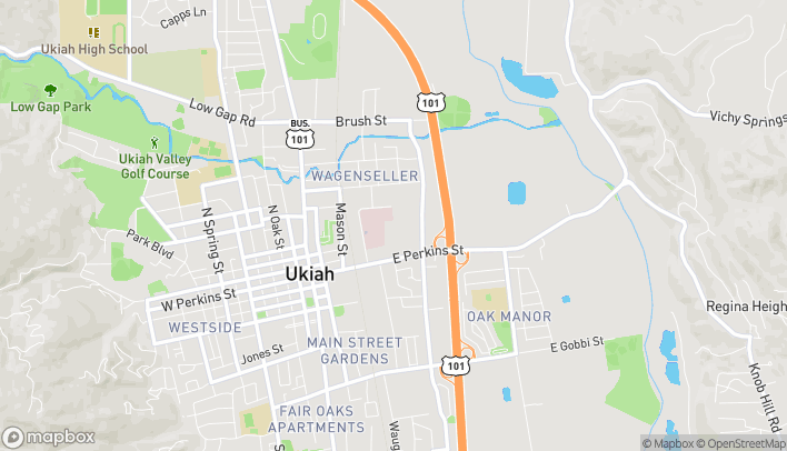 Mapa de 516 East Perkins Street en Ukiah
