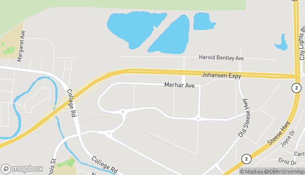 Map of 407 Merhar Ave in Fairbanks