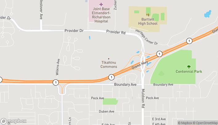 Mapa de 1118 N Muldoon Road en Anchorage