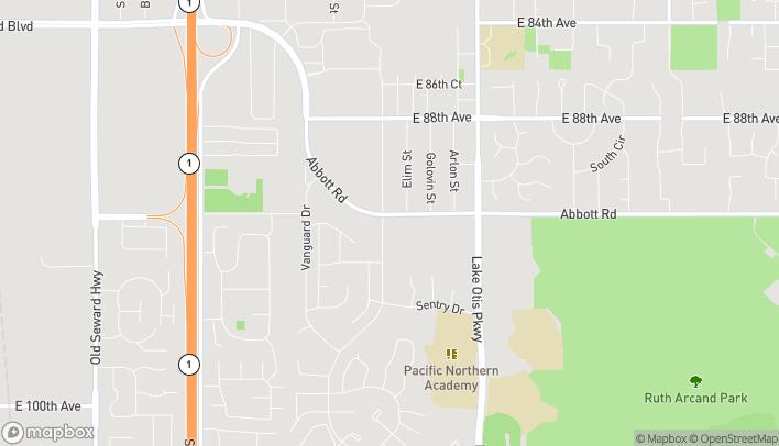 Mapa de 2220 Abbott Rd en Anchorage