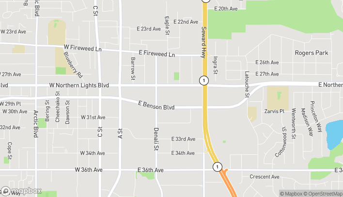 Map of 600 E Northern Lights Blvd in Anchorage