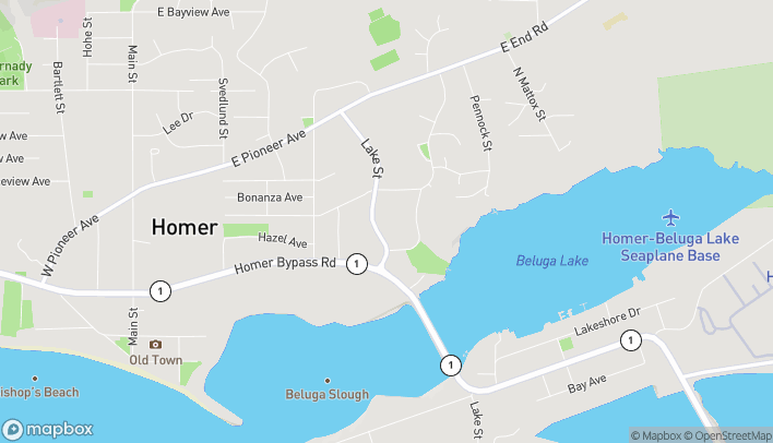 Map of 3726 Lake St in Homer