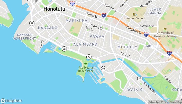 Map of 1450 Ala Moana Blvd in Honolulu
