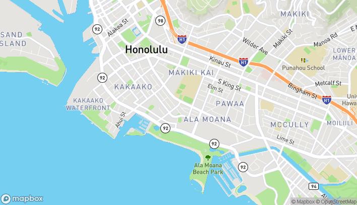 Mapa de 1067 Kapiolani Blvd en Honolulu