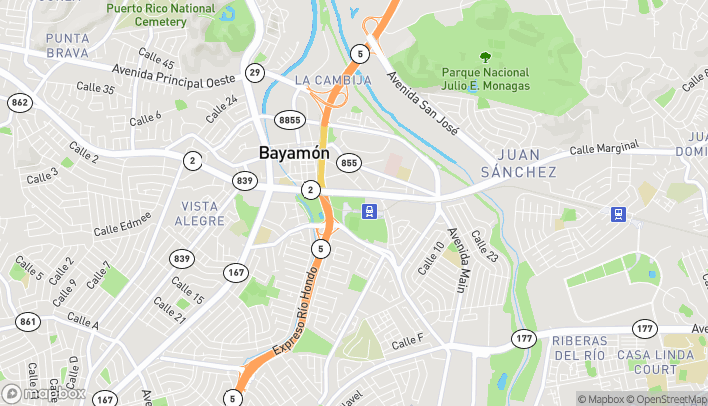 Map of Carr #2 Km 7.1 in Bayamon