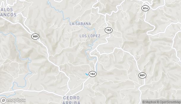 Map of Carr. 152 Km. 14.4 in Naranjito