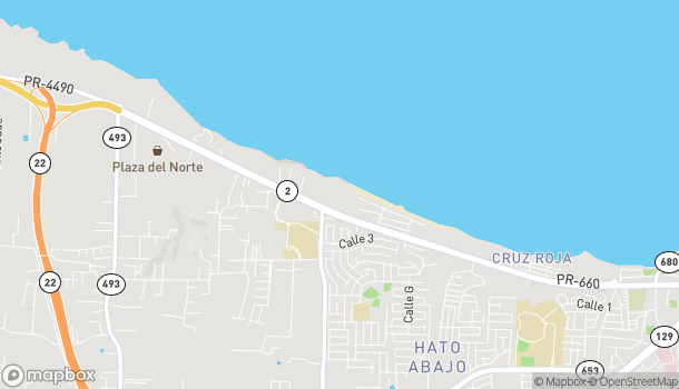 Map of 1400 Avenida Miramar in Arecibo
