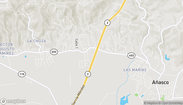 Map of Pr State Road in Anasco