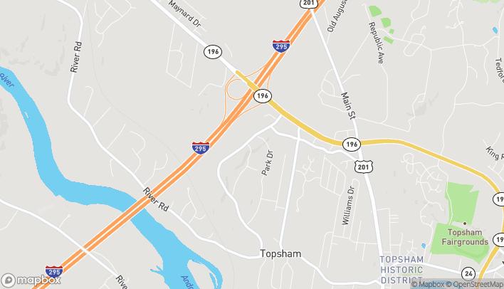 Mapa de 56 Topsham Fair Mall Road en Topsham