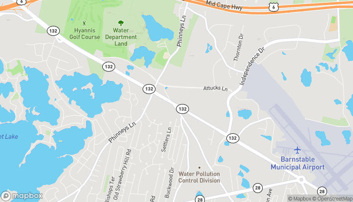 Map of 1214 Iyannough Rd Rte 132 in Hyannis