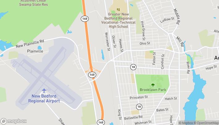 Mapa de 606 Tarkiln Hill Rd en New Bedford