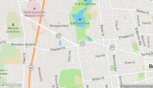 Map of 641 Pleasant Street in Brockton
