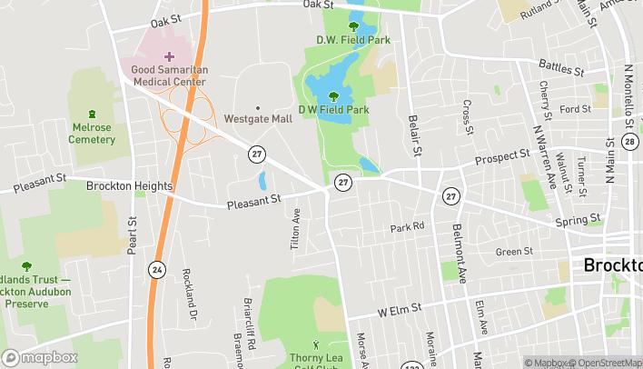 Mapa de 641 Pleasant Street en Brockton