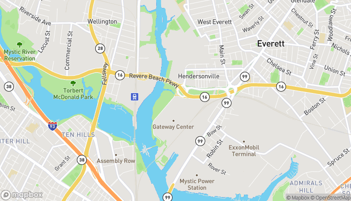 Map of 27 Mystic View Road in Everett