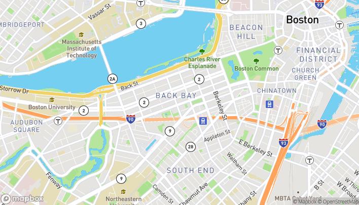 Map of 699 Boylston Street in Boston