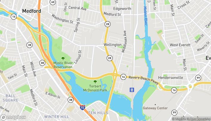 Mapa de 686 Fellsway en Medford