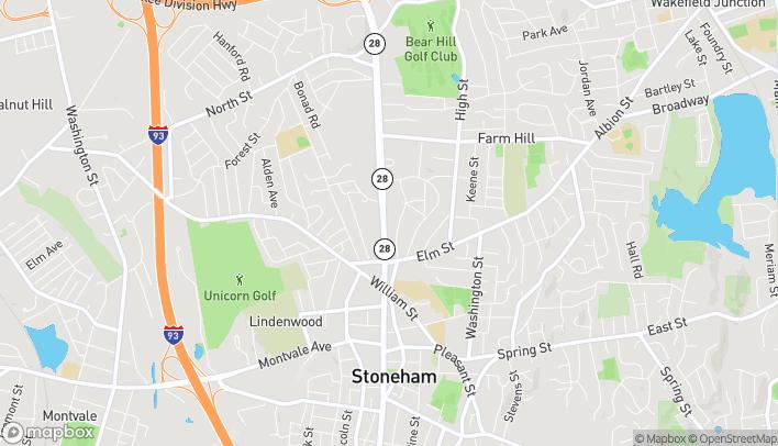 Mapa de 196 Main Street en Stoneham