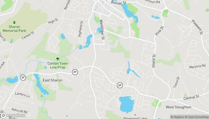 Mapa de 95 Washington Street en Canton