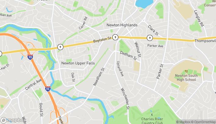 Map of 88 Needham St in Newton
