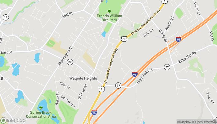 Mapa de 555 Providence Highway en Walpole