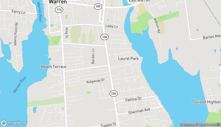 Map of 630 Metacom Ave in Warren
