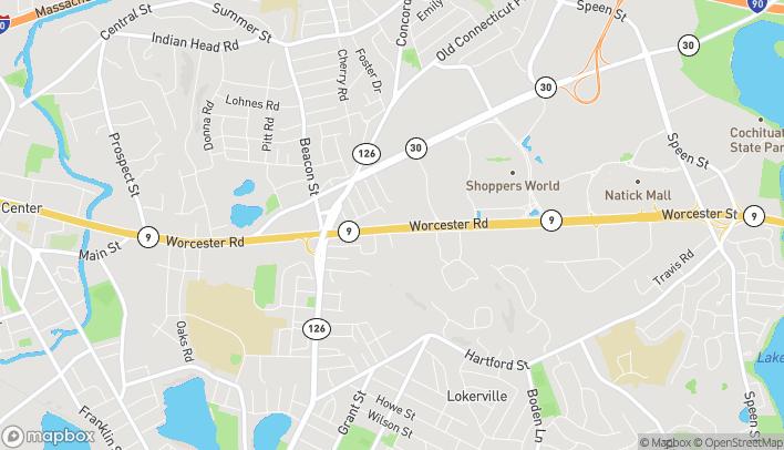 Mapa de 225 Worcester Rd en Framingham