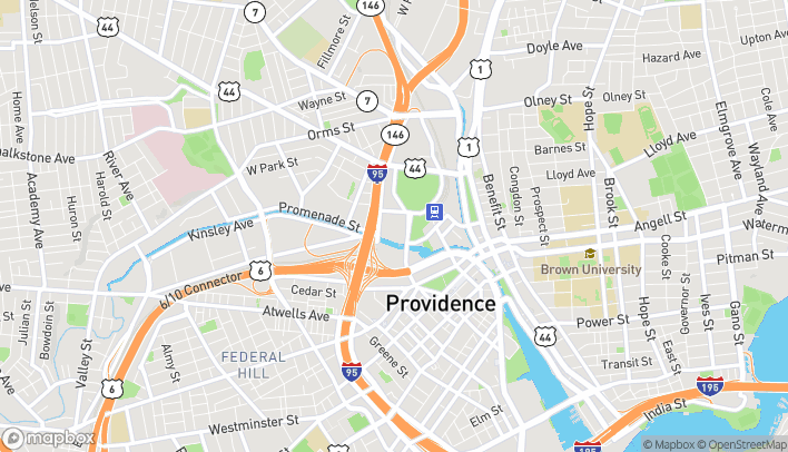 Map of 1 Providence Pl in Providence