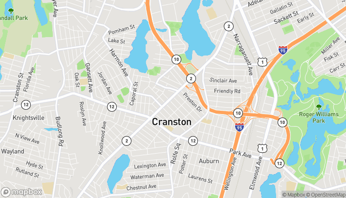 Mapa de 540A Reservoir Ave en Cranston