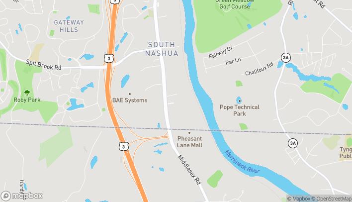 Mapa de 296 Daniel Webster Highway en Nashua