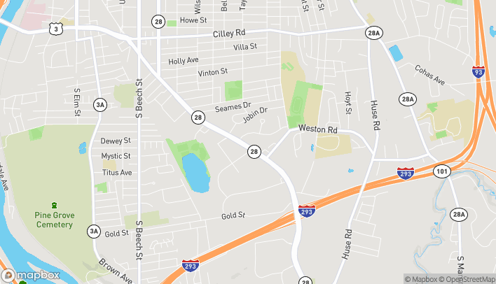 Map of 906 S Willow Street in Manchester