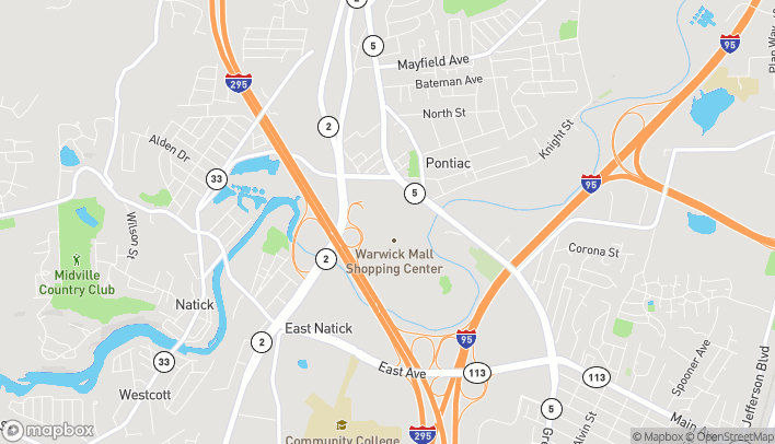 Map of 400 Bald Hill Rd in Warwick