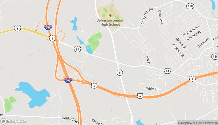 Mapa de 1450 Hartford Ave en Johnston