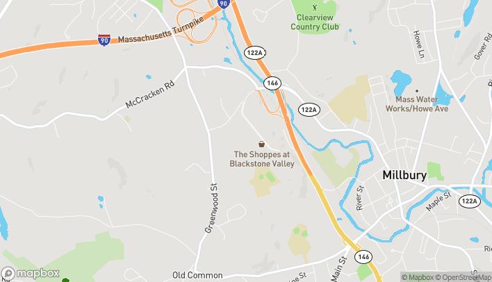 Mapa de 70 Worcester-Providence Tnpk en Millbury