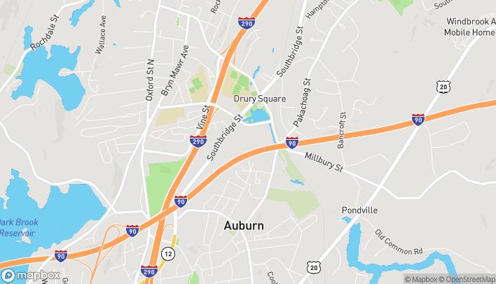 Mapa de 385 Southbridge St en Auburn