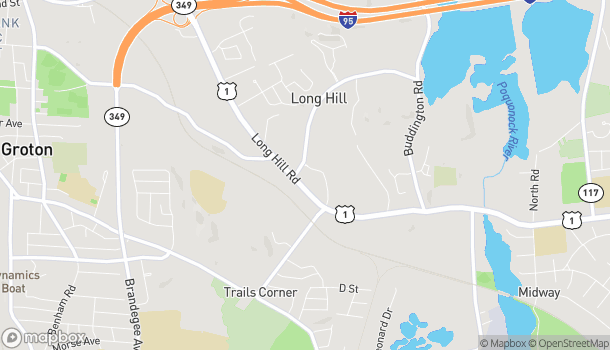 Mapa de 744 Long Hill Rd en Groton