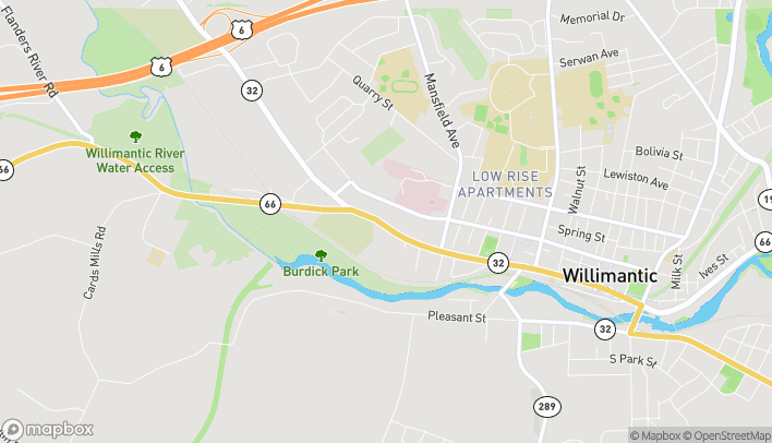 Map of 1325 Main St in Willimantic