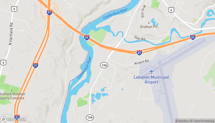 Map of 1 Airport Rd in West Lebanon