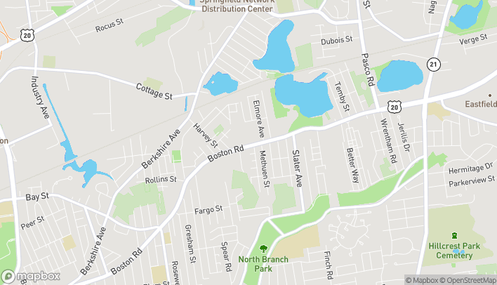 Map of 826 Boston Rd in Springfield