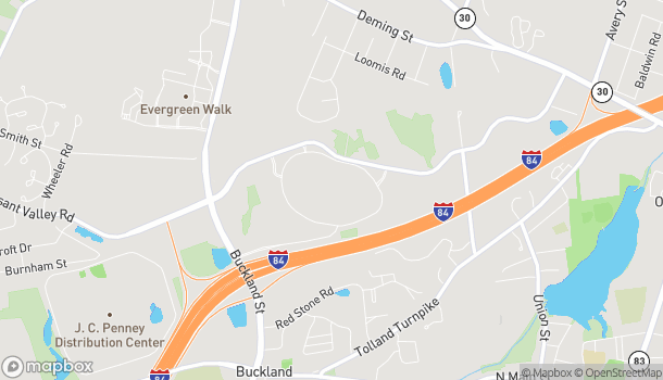 Map of 194 Buckland Hills Drive in Manchester