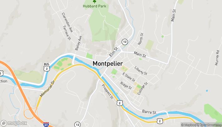 Map of 89 Main Street in Montpelier