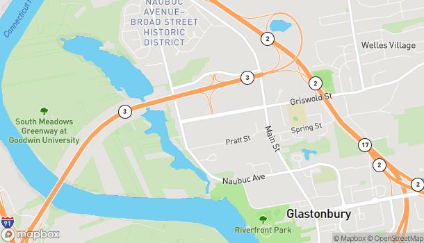 Mapa de 140 Glastonbury Blvd en Glastonbury