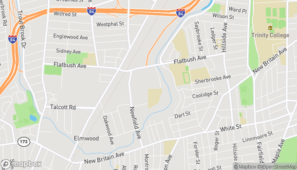 Map of 67 William Shorty Campbell St in Hartford
