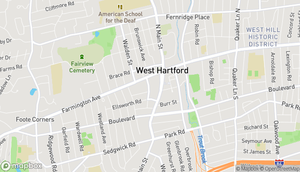 Map of 56 Lasalle Road in West Hartford