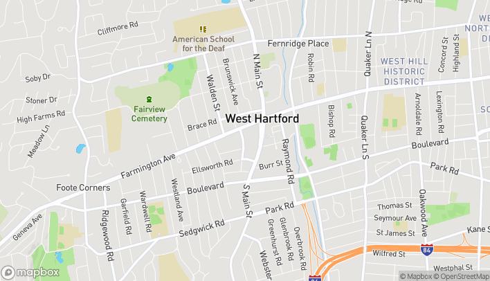 Mapa de 56 Lasalle Road en West Hartford
