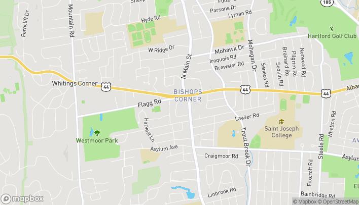 Mapa de 345 North Main Street en West Hartford