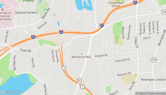 Map of 500 Westfarms Mall in Farmington