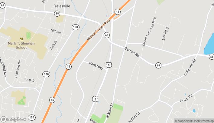 Mapa de 893 N Colony Rd en Wallingford