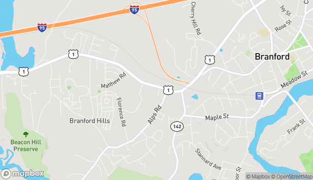 Mapa de 935 West Main St en Branford